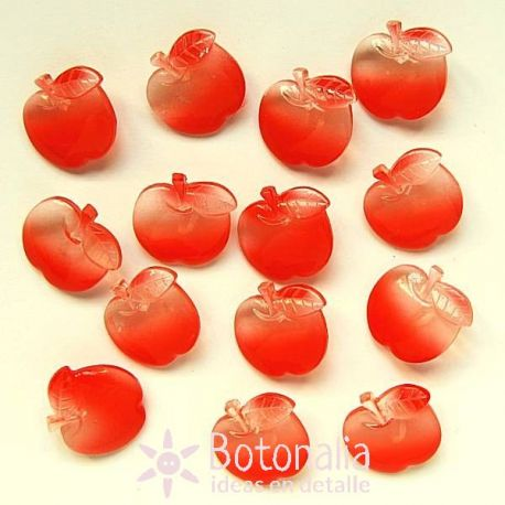 Transparent red apples 19 mm