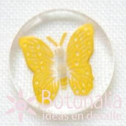 Mariposa amarilla 15 mm