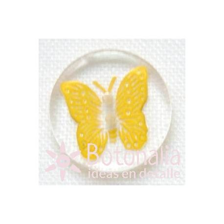 Yellow butterfly 15 mm