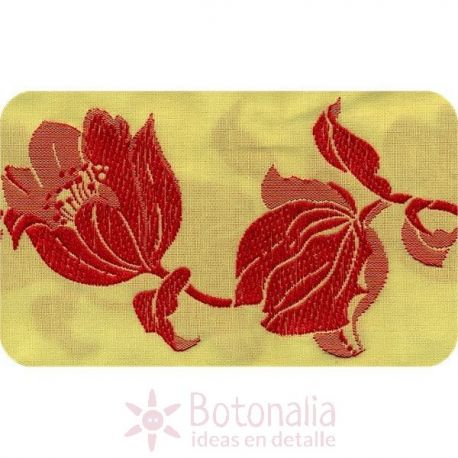Red tulips ribbon
