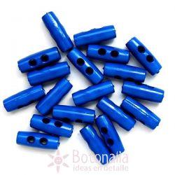 Botón pequeño trenca azul