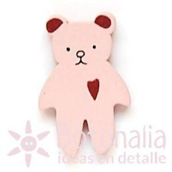 Teddy bear pink 30 mm