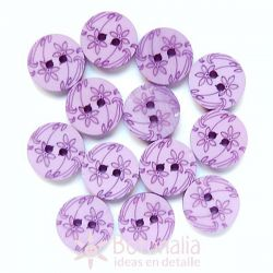 Carved flowers in violet