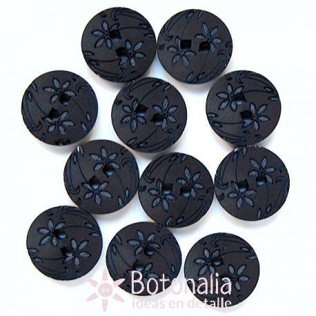 Flores talladas en negro