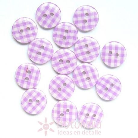 Cuadros Vichy Violeta 14 mm