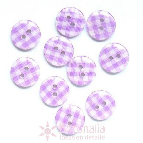 Gingham print violet 12 mm