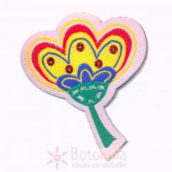 Pegatina flor multicolor