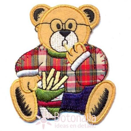 Teddy bear eating french fries