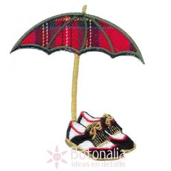 Golf - Umbrella and shoe