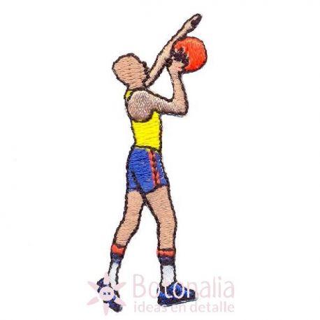 Man playing basketball 1