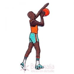 Man playing basketball 2