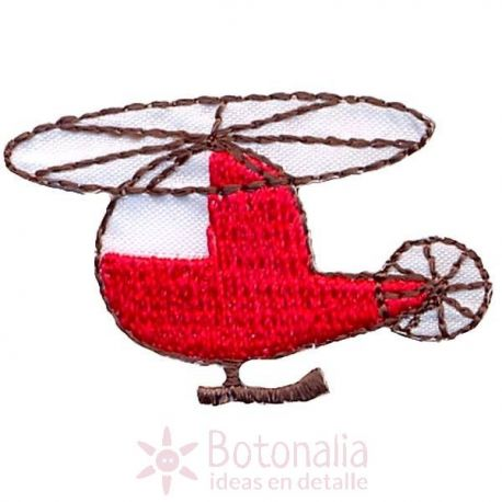 Helicóptero rojo