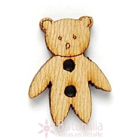 Teddy bear made of wood