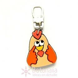 Zipper pull embellishment - Little hen