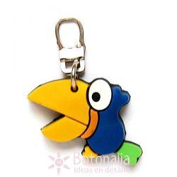 Zipper pull embellishment - Bird