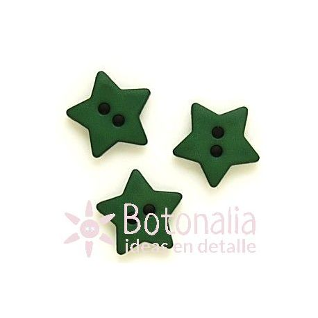 Estrella verde 15 mm