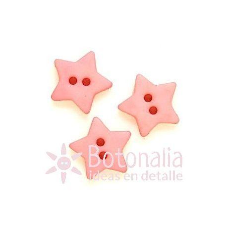 Estrella rosa 15 mm