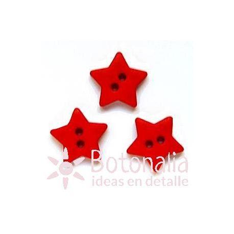 Estrella roja 15 mm