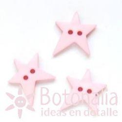 Estrella irregular rosa 19 mm