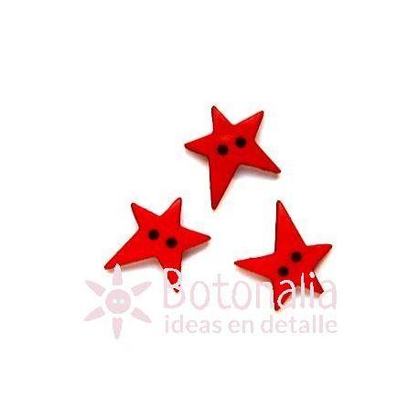 Estrella irregular roja 19 mm