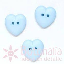 Corazón azul 15 mm