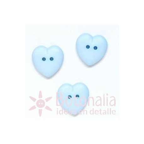 Heart blue 15 mm