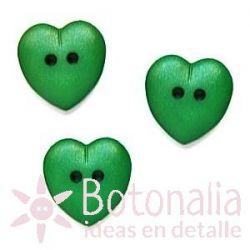 Corazón verde 15 mm