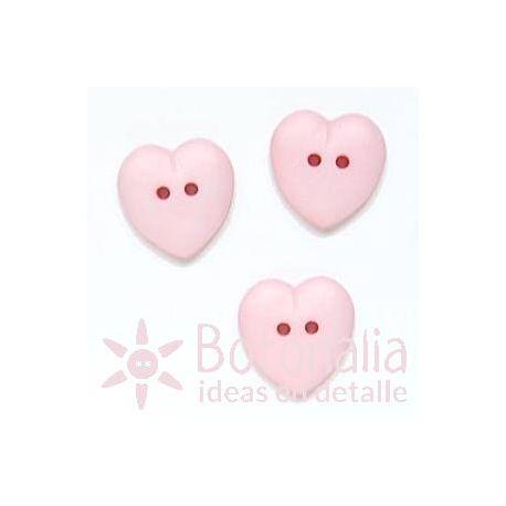 Corazón rosa 15 mm