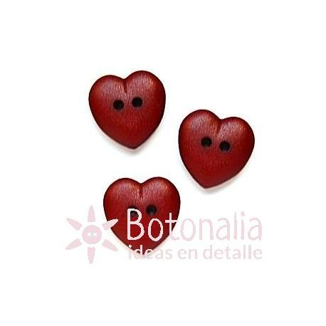 Heart red 15 mm