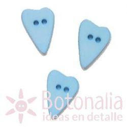 Corazón alargado azul 15 mm