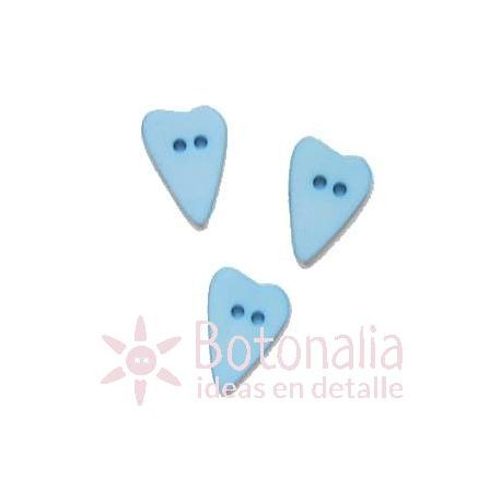 Long-shaped heart blue 15 mm