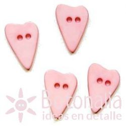 Long-shaped heart pastel pink 15 mm