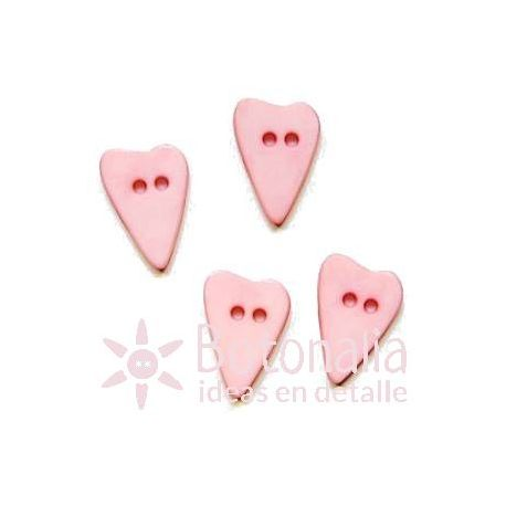 Long-shaped heart pastel pink 15 mm