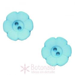 Carved blue (with the shape of a flower) 15 mm