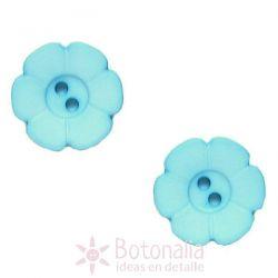 Tallado azul (forma de flor) 15 mm