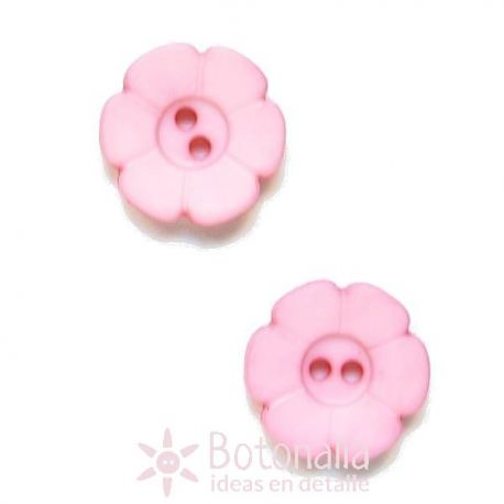 Carved pink (with the shape of a flower) 15 mm