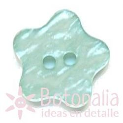 Button Star with rounded shape (blue)