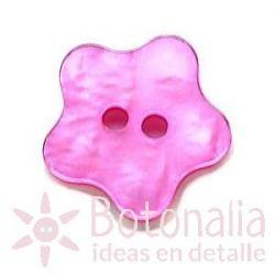 Botón estrella redondeada imitación nácar (rosa)