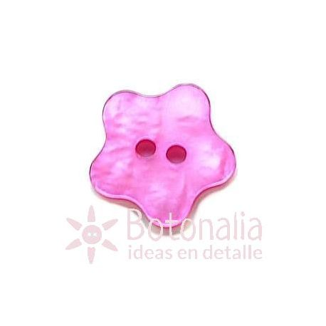 Button Star with rounded shape (pink)