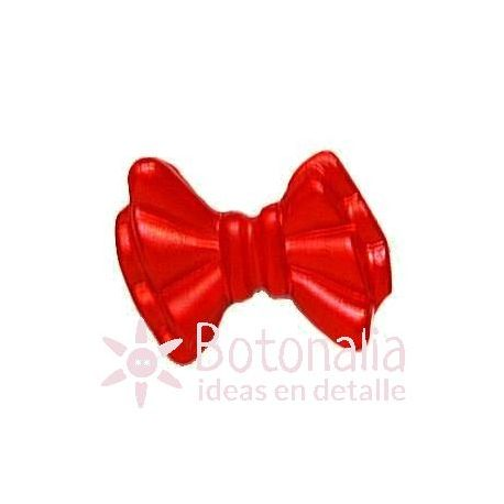 Red ribbon button 15 mm.