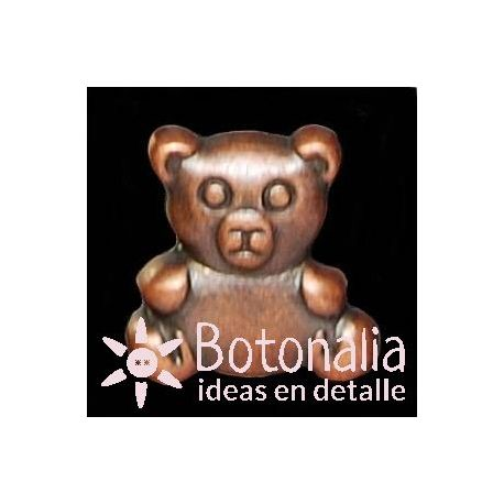 Button Teddy bear in copper metal color