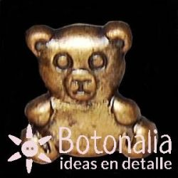 Button Teddy bear in bronze metal color
