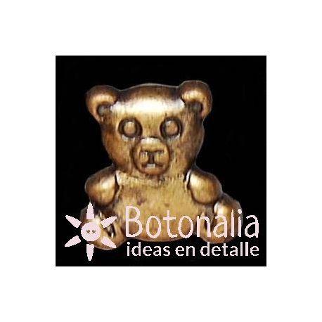 Button Teddy bear in bronze metal color