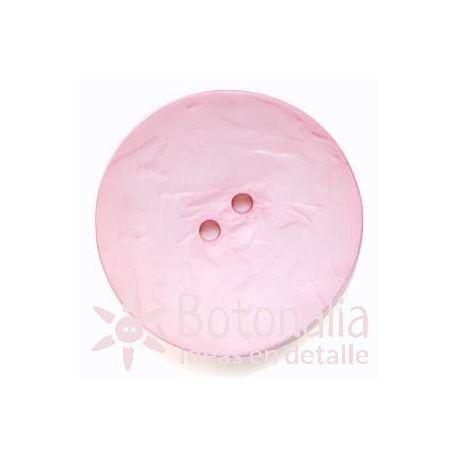Botones Grandes - Circular Rosa Pastel - 60mm
