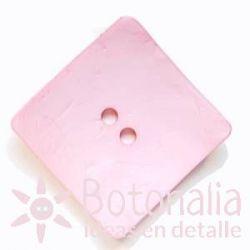 Botones Grandes - Cuadrado Rosa Pastel - 60mm