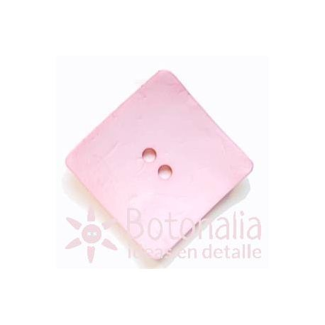 Large buttons - Square pastel pink - 60mm