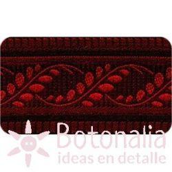 Sajou - Embroidered Ribbon Red Laurels