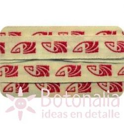 Sajou - Embroidered Ribbon Art Deco in red