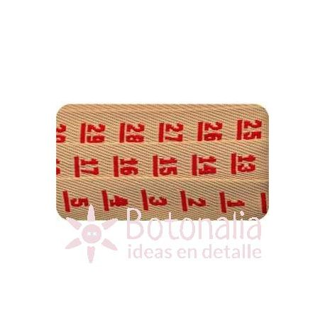 Sajou - Embroidered Ribbon - Measuring tape in red