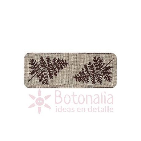 Embroidered Ribbon Model Twigs in brown